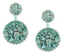 crystal disk earrings