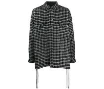 Tweed-Hemdjacke mit Schnürung