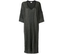 patterned flared dress