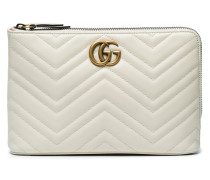 White GG marmont 2.0 Leather Pouch