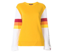 striped detail sweatshirt
