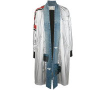 Oversized Mantel mit Jeans-Details