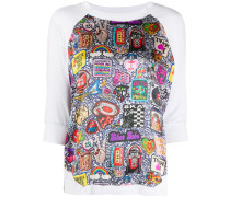 "T-Shirt mit ""Glam Rock""-Print"