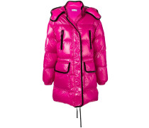 RED(V) maxi hooded puffer jacket