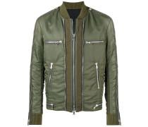 zip detail bomber jacket