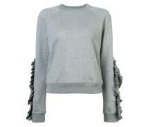 Sweatshirt mit gerüschten Applikationen