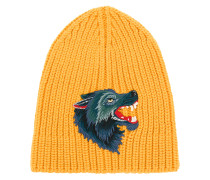 knitted Wolf beanie