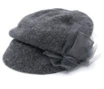ribbon-detail flat cap