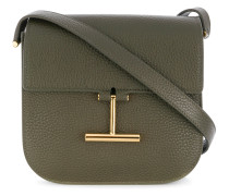 T buckle shoulder bag