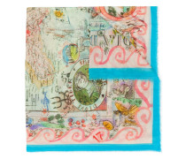 Schal mit Illustrations-Print