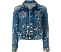 Jeansjacke mit Farbspritzern