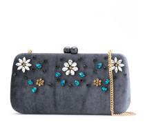 embellished velvet clutch