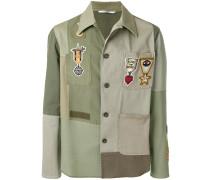 Military-Hemd im Patchwork-Design