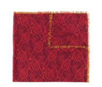 Ausgefranster Schal mit Logo-Print