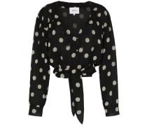 Amulet polka dot chiffon blouse