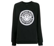 Geripptes Sweatshirt mit Logo