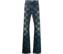 Jeans mit Schachbrettmuster
