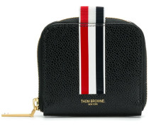 Vertical Inatarsia Stripe Zip-around Cardholder In Pebble Grain Leather