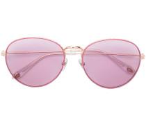 studded oval frame sunglasses