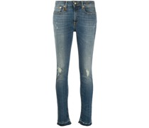 Halbhohe Cropped-Jeans