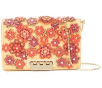 Earthette floral appliqué crossbody bag