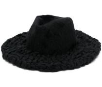Trilby-Hut mit gestrickter Krempe
