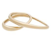 Vergoldeter 'Heart' Zwei-Finger-Ring