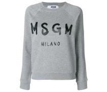 cropped logo print sweatshirt