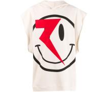 Oversized-Kapuzenpullover mit Smiley