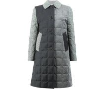 Unconstructed Downfill Bal Collar Overcoat In Funmix Prince Of Wales Heavy Wool