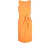 Gerafftes Kleid mit Schleife