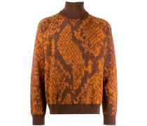 Pullover mit Pixel-Print