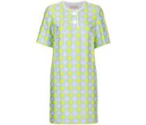 T-Shirt-Kleid mit Jacquardmuster
