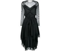 mesh-panelled dress