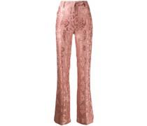 Bestickte Hose aus Brokat