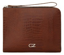 Clutch mit Kroko-Optik