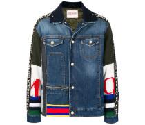 'Piumini' Jeansjacke mit gestrickten Ärmeln