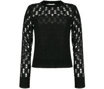 embroidered long-sleeve jumper