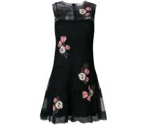 Ausgestelltes Kleid mit floraler Spitze