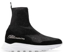 Sock-Sneakers mit Glitzer