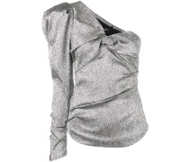 sparkly one shoulder knot top