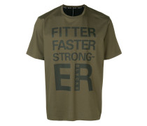 """T-Shirt mit """"Fitter Faster Stronger""""-Print"""