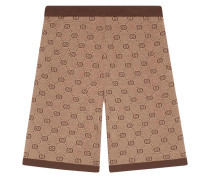 Jacquard-Shorts mit GG-Muster