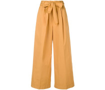 belted baggy trousers