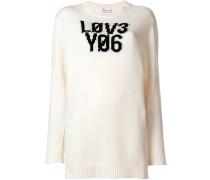 'Lov3 Yo6' knit sweater