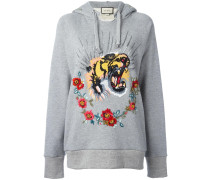 Sweatshirt mit Tiger-Stickerei