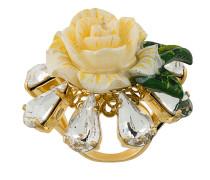 Rosen-Ring mit Kristallen