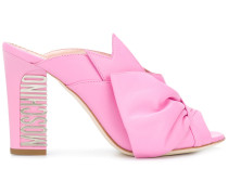 back logo embellished sandals