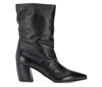 relaxed curved heel boots
