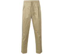 drawstring chino trousers
